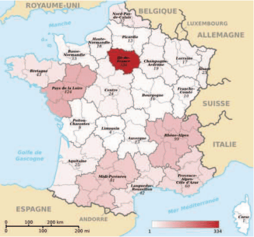 carte repartition CNSE