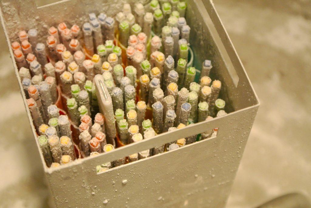 Paillettes de stockage des ovocytes