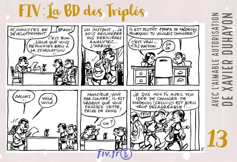 Strip 13 Bande Dessinée sur la PMA et la FIV