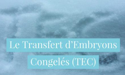 Le transfert d'embryons congelés  TEC