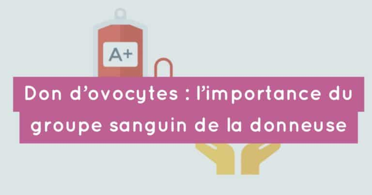 Don d'ovocytes : l'importance du groupe sanguin de la donneuse