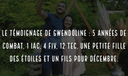 Le témoignage de Gwendoline : 5 années de combat, 1 IAC, 4 FIV, 12 TEC, une petite fille des étoiles et un fils pour décembre