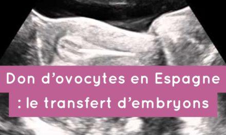 Don d'ovocytes en Espagne : le transfert des embryons